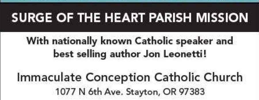 Jon Leonetti coming to Immaculate Conception