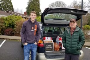 More photos of Saturday's food basket delivery