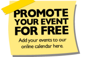 Submit events for our website calendar