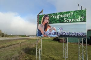 New StandUpGirl Billboard installed at the hall